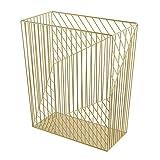 U Brands Metal Trash Can, Vena Collection, 6 Gallon Capacity, Gold (3232U02-06)