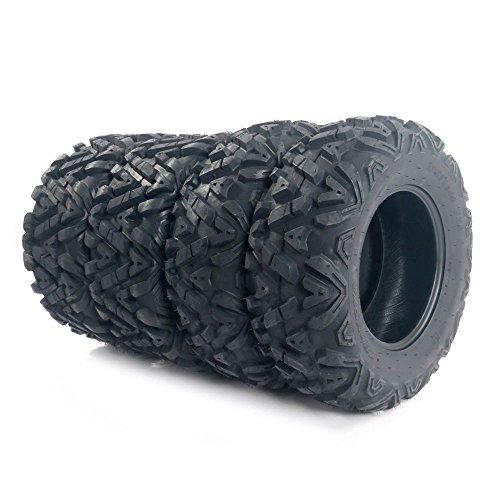 Motorhot ATV/UTV Tires 25x8-12 Front & 25x10-12 Rear 6 Ply Complete Set of 4