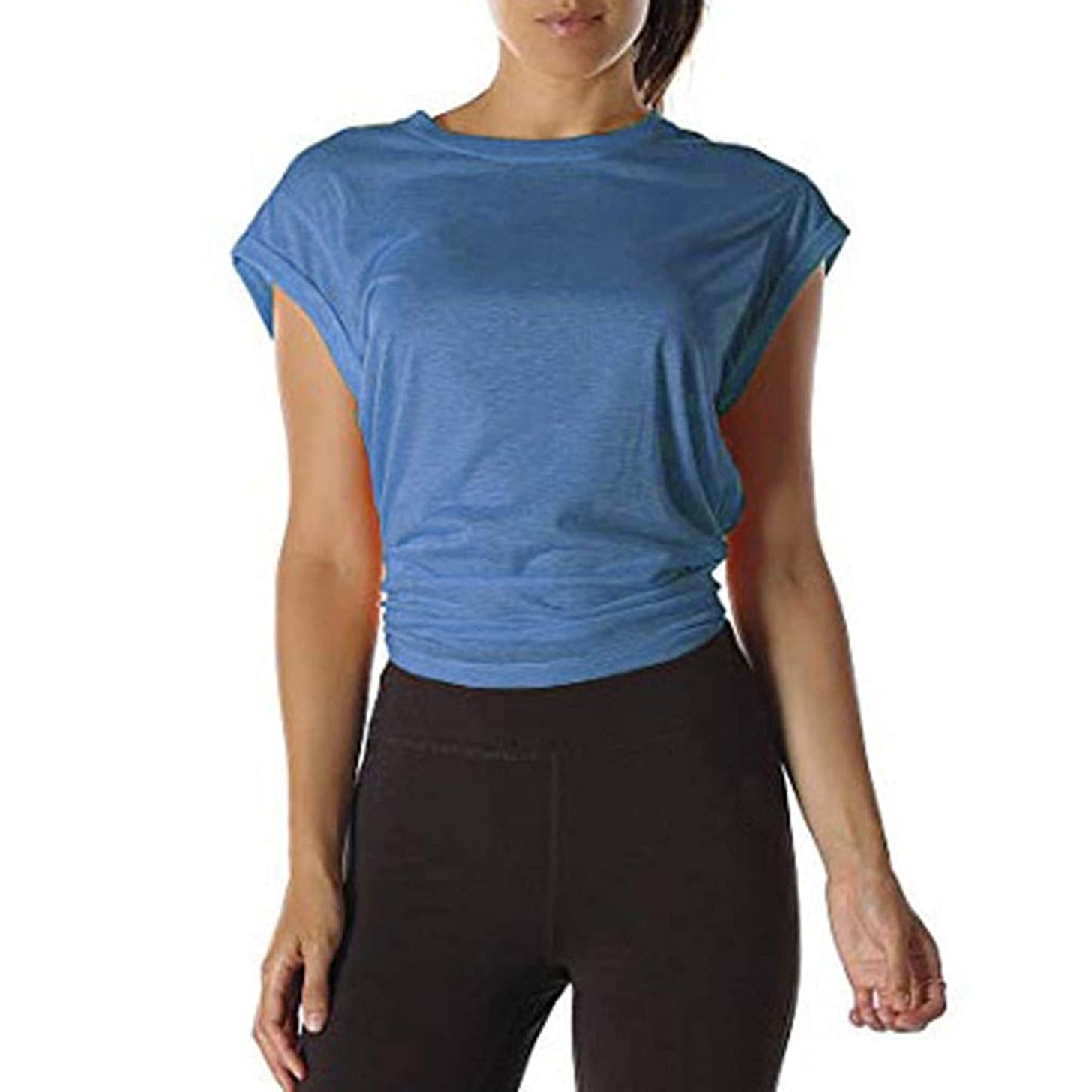 Womens Tops and Blouses Hessimy Open Back Workout Top Shirts - Yoga t-Shirts Activewear Exercise Tops for Women