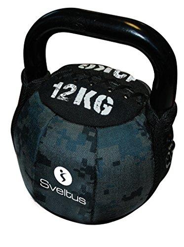 Sveltus Soft Kettlebell 12 Kg schwarz Krafttraining Muskeltraining Gewichte