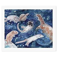 ジプシー ラット パー MouseDIY 数字油絵 キャンバスの油絵 手塗り 57* 47 cm 絵画 大人の子供のためのギフト 数字キットでペイント インテリア アートフレーム ホームデコレーション