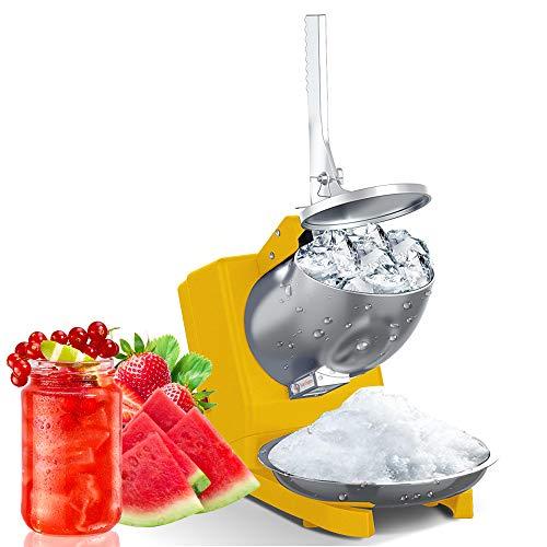 Tritaghiaccio elettrico Tritaghiaccio domestico e commerciale Tritaghiaccio in acciaio inossidabile cono per bevande ghiacciate, cocktail, dessert alla frutta