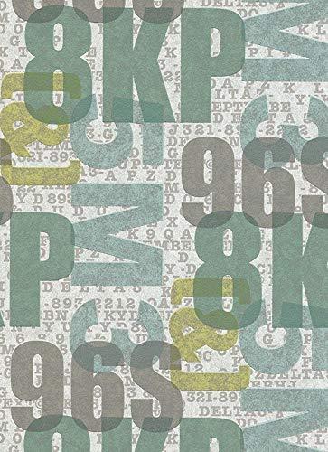 Vliestapete Schrift Buchstaben Zahlen