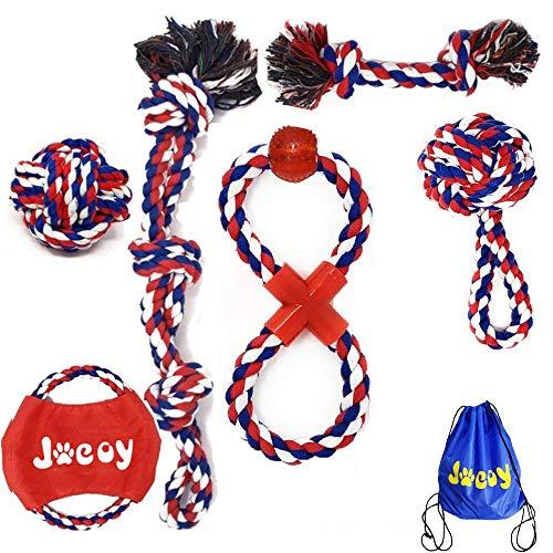 JAUTO Premium Hundespielzeug Hundeseile - Hochwertig aus Baumwolle & Leinen Ökologisches Spielzeug für kleine und mittelgroße Hunde