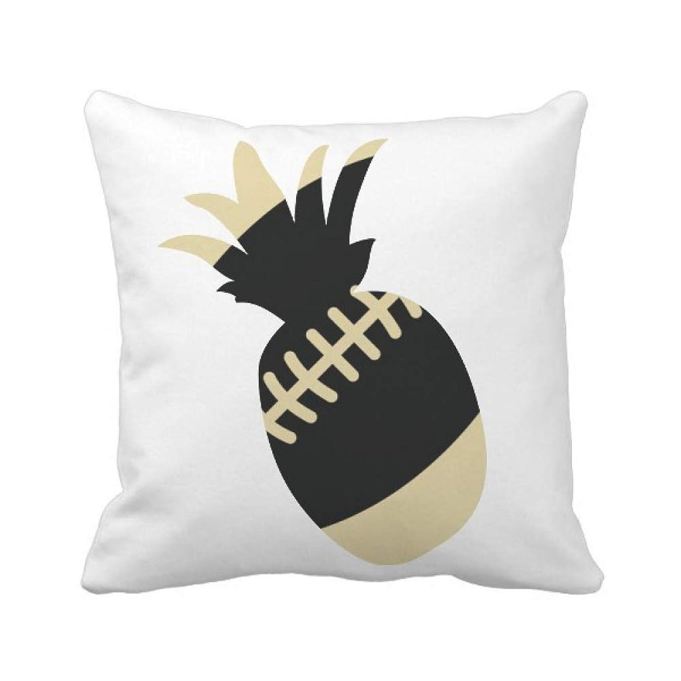 悲惨な分類うぬぼれたフットボールのスポーツは、単純な幾何学のパターン パイナップル枕カバー正方形を投げる 50cm x 50cm