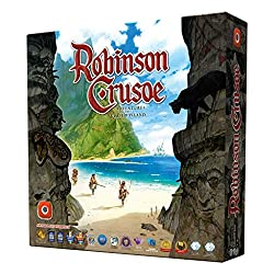 Robinson Crusoe adventures on the cursed island board game box