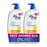 H&S Citrus Fresh Anticaspa Champú para el cabello graso, 2 x 1000 ml