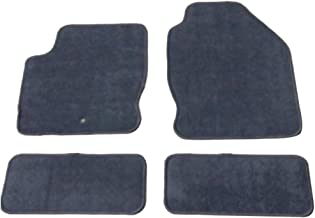 Floor Mats Compatible With 2000-2007 Ford Focus | Nylon Gray Front Rear Carpet by IKON MOTORSPORTS | 2001 2002 2003 2004 2005 2006