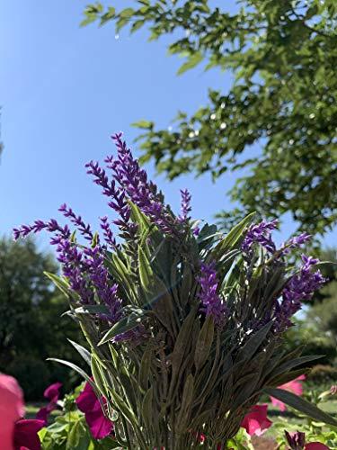 WINOMO 4 flores artificiales de lavanda ramo de flores para novia, hogar, jardín, oficina, boda, decoración (morado)