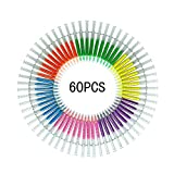 Jeringa Resaltador Rotuladores, Con 6 Agujas Fluorescente Bolígrafo Marcador, Creativo Rotuladores Ideal Para Médicos Enfermeras Escuela Papelería Suministros Set (60 Piezas)
