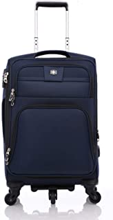 Luggage Trolley case Mute and Durable Universal Wheel Suitcase Oxford Cloth Travel Luggage (Color : Blue, Size : 24 inches)