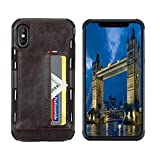 SOUNDMAE iPhone 8 Wallet Case, iPhone 7 Case with Card Holder, Slim Shockproof Protective PU Leather Wallet Case with Credit Card Slot Holder for Apple iPhone 8/7, Dark Brown
