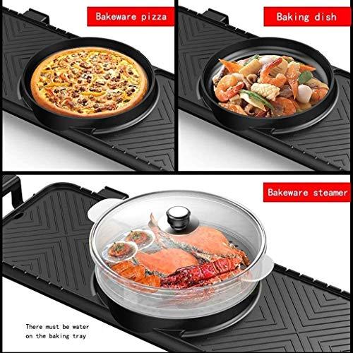 51m8OhOdMDL - CJTMY Elektro-Heizung Runde-Segment Hot Pot, Dual-Purpose Pan, Drehschalter, einteiliger Pan, Geeignet for mehr als 6 Personen