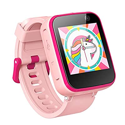 AGPTEK Kids Smart Watch with Dual Camera, Children Smartwatches for 3-12 Years Old Kids with Touchscreen, Educational Games, Music Player Learning Toys Christmas Birthday Gifts for Girls by AGPTEK