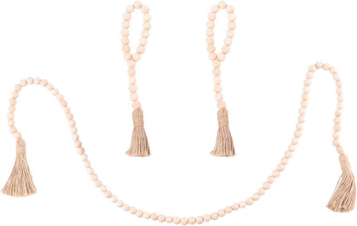 Wooden Max 73% OFF Beads Popular products Tassels Rustic Hemp Rope Ornam Wall Hanging Pendant