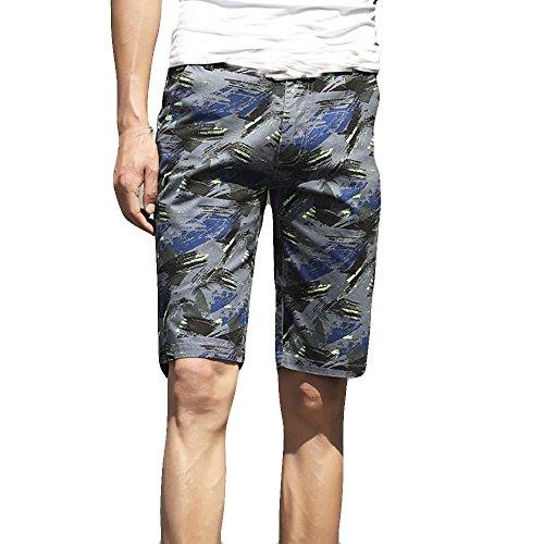 FRAUIT Heren mannen Camouflage Shorts Zwembroek Snelle Sport Shorts Strand Surfen Waterbroek Beachshorts Strandbroek met vijf punten Zomerzwemshorts Sneldrogend Korte broek
