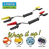 Dura-Winder 2 Pack 5-150 ft Quick Release Storage Reel Organizer with Handle for Extension Cords, Christmas Lights, Rope