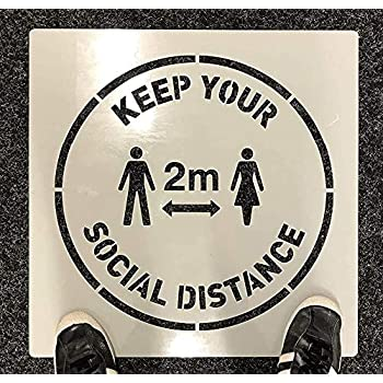 2M KEEP YOUR DISTANCE STENCIL SOCIAL DISTANCING