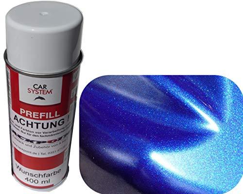 Spraydose 400ml 1K Autolack Nacht Blau 2 Metallic Glanz kein Klarlack Tuning