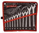 Amtech K0400 Set Combination Spanner, Multicolore...