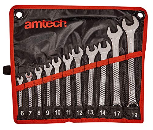 16PC RED METRIC AF DROP FORGED COMBINATION SPANNER WRENCH SET IN CASE 6-32MM NEW