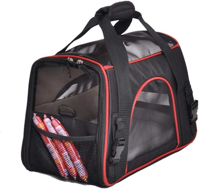 Portable Pet Carrier Bag Dog Cat Travel Bag Breathable Polyester Pink Single Shoulder Handbag Easy Carry Pet Bag, 1 (color   2)