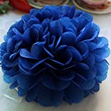 Stephen Artificial & Dried Flowers - 6inch 15cm Tissue Paper Flower Ball Pompoms for Wedding Baby Shower Birthday Party Decoration Home Garden Decor paperpoms - by 1 PCs