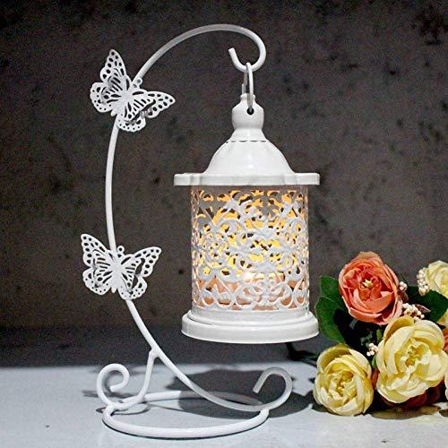 FEE-ZC Weihnachtskerzenhalter Hohleisen Laterne Schmetterling Haken Dekorative Kerzenhalter Vintage Dekorative Käfige Metall Hochzeit Kerzenhalter,