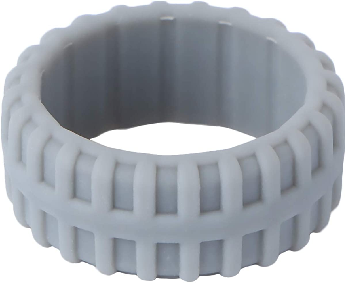 Holibanna Tyre Omaha Mall Max 72% OFF Pattern Finger Ring Silicone Work Punk Out Sport