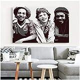 wzgsffs Mick Jagger Bob Marley Póster De Arte De Pared E Impresiones Impresas En Lienzo para La Sala De Estar Pintura Decoración Regalo Hogar Dormitorio-24X32 Pulgadas X 1 Sin Marco