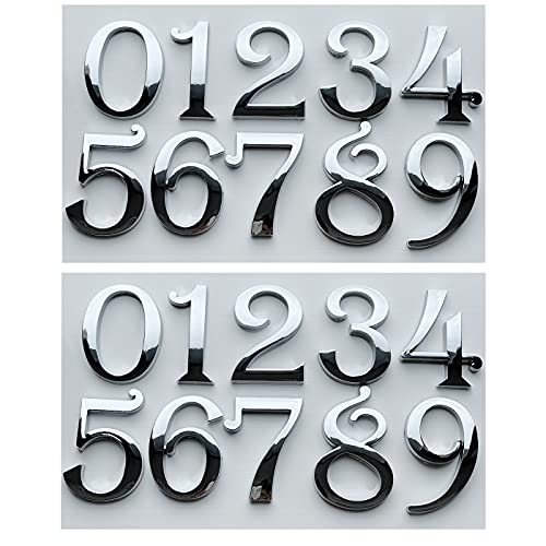 Self Adhesive Mailbox Numbers, Address Number Stickers for House Door Aprtment Office Home Room or Outside Business Decorative Project. (2.75