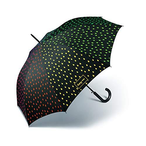 Happy Rain Long AC waterreactive Automatik Regenschirm Umbrella Schirm 41100 Farbwechsel bei Nässe