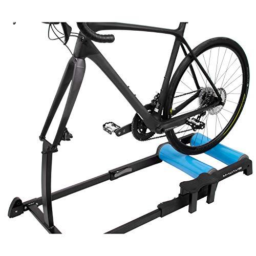 M-Wave Unisex - volwassenen Yoke'n'Roll 65 fiets trainingsrol, zwart/blauw, voor 26