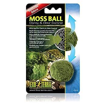 Exo Terra Moss Ball Water Clarity and Odor Control for Aqua-Terrariums PT2478  White