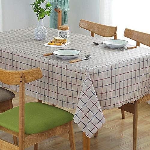 Reinig de tafelkleden van kunststof, de vierkante doek reinigt het rechthoekige waterdichte tafelkleed van vinyl voor de tuin keuken buiten of binnen, kaki. 90*90