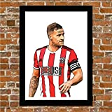 Billy Sharp Poster Sheffield United Gerahmt