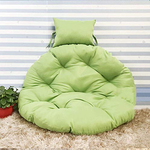 Dikke hangstoel zonder standaard, comfortabele schommelstoel kussens Nest Hangende stoel Terug met kussengember Geel D105cm Kleur: Roze, Maat : D105cm(41inch)