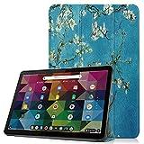 Coque pour Lenovo Duet Chromebook 10.1', Ultra Mince Étui à Trois Volets Housse Cuir PU Étui de...