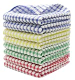 HFGBLG 100% Cotton Dish Rags Tidy Dish Cloths Bulk Dish Towels, Set of 8 Kitchen Towels, Soft and Absorbent Cleaning...