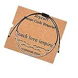 Teacher Appreciation Gifts for Women Morse Code Bracelet Teacher Bracelet Retirement Jewelry for Teacher Appreciation Week End of Year Quote Mantra