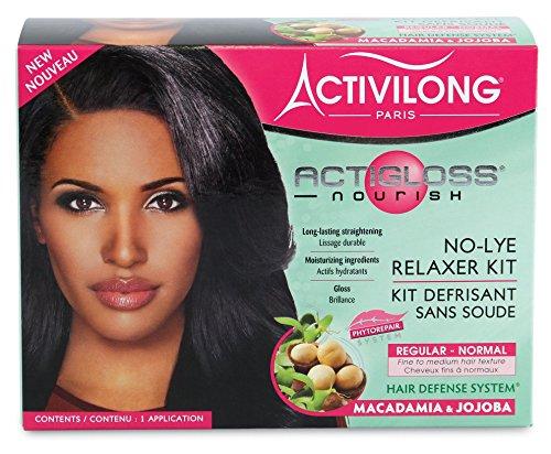 Activilong Actigloss Nourish Kit Défrisant sans soude Macadamia et Jojoba Normal Regular