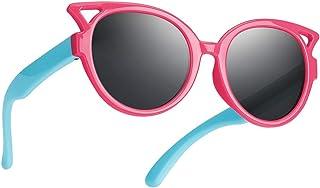 Nacuwa Kids Sunglasses, 100% UV Proof Rubber Flexible...