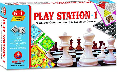 YASH Toys Play Station - 1 (Combo of 5 Games) for Kids/Boys/Girls