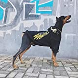 MDKAZ Ropa para Perros a la Moda Sudadera con Capucha cálida de Invierno para Mascotas para Perros medianos y Grandes Abrigo de Chaqueta de Doberman Husky Bulldog francés Corgi-XXL