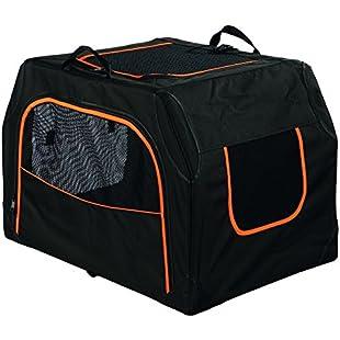 Trixie Extend Expandable Transport Box for Dog, Small/Medium, Black/Orange:Btc4you