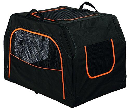 Trixie 39727 Mobile Kennel Extend, erweiterbar, S–M: 68 × 47 × 48 cm, schwarz/orange