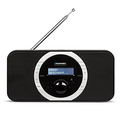 Blaupunkt RXD 120 Küchen- und Bad-Radio mit PLL-UKW-Radio | Modernes DAB+ Digital Radio | Batteriebetrieb für den Außenbereich oder Strombetrieb | 10 Senderspeicher, Kopfhöreranschluss