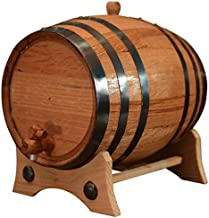5 Liters American Oak Aging Barrel   Handcrafted using American White Oak   Age your own Whiskey, Beer, Wine, Bourbon, Tequila, Hot Sauce & More