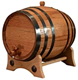 5 Liters American Oak Aging Barrel | Handcrafted using American White Oak | Age your own Whiskey, Beer, Wine, Bourbon, Tequila, Hot Sauce & More
