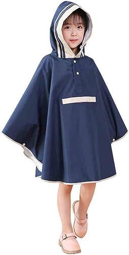 Imperméable Poncho avec Sac Peu Big Hat Eaves épaississeHommest Unisexe Bleu MUMUJIN (Taille   M)